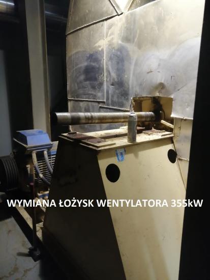 Wymiana lozysk 355kW