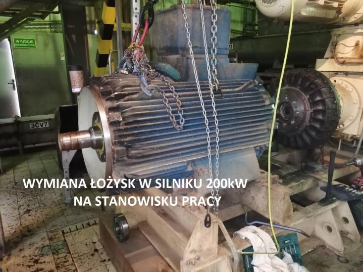 Wymiana lozysk 200kW