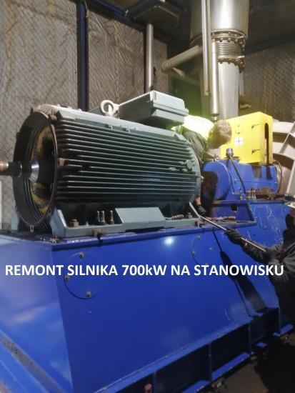 Remont silnika 700kW